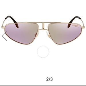 Carrera gold sunglasses with pink lens